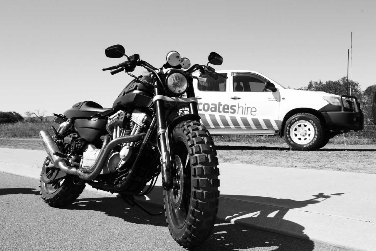 Pictured: The Crossing Australia Harley XR1200