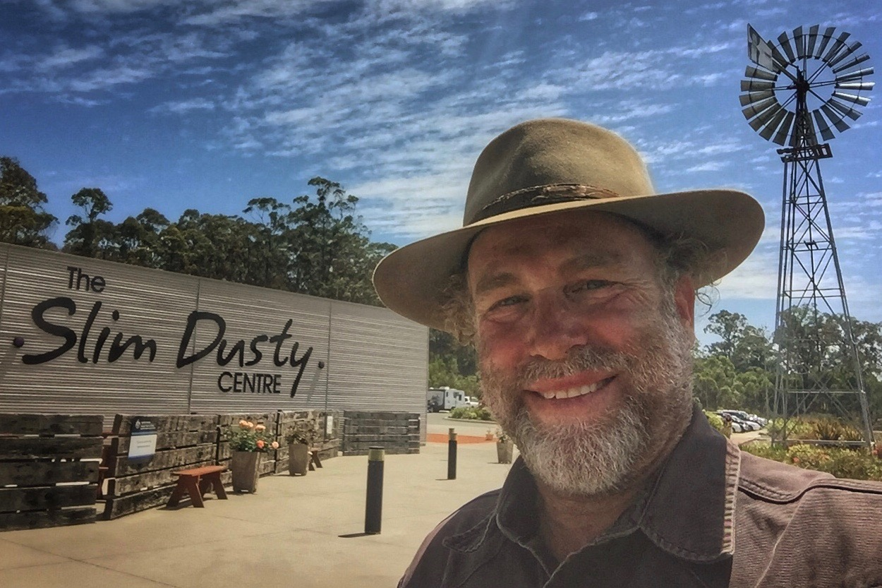Pictured: Steve visiting the Slim Dusty Centre in Kempsey, NSW