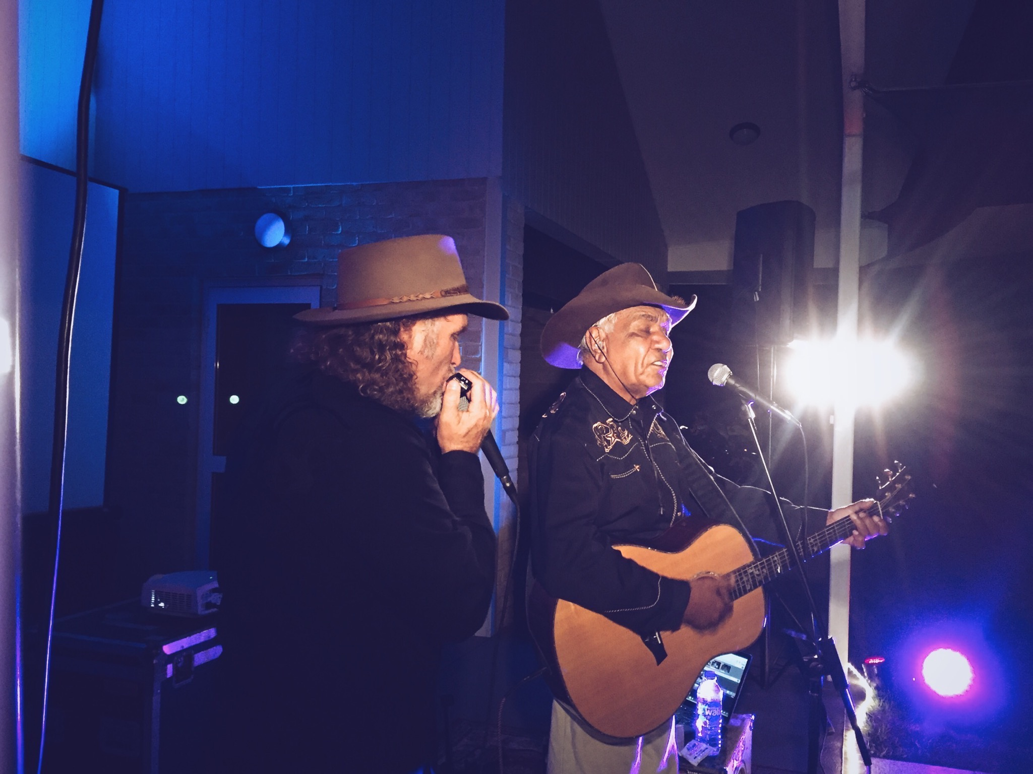 Pictured: The legendary Sonny Graham sharing a song at our Esperance concert last week.
