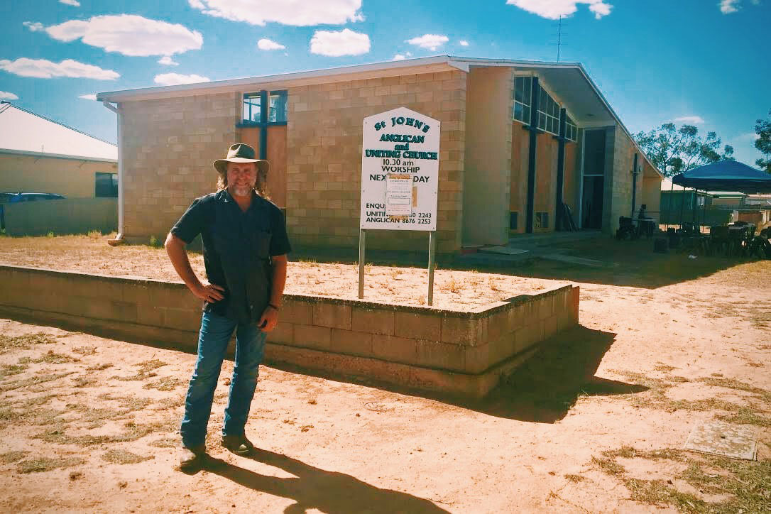 Pictured: The Church in Minnipa South Australia where we served and worshipped last Sunday morning with the locals.