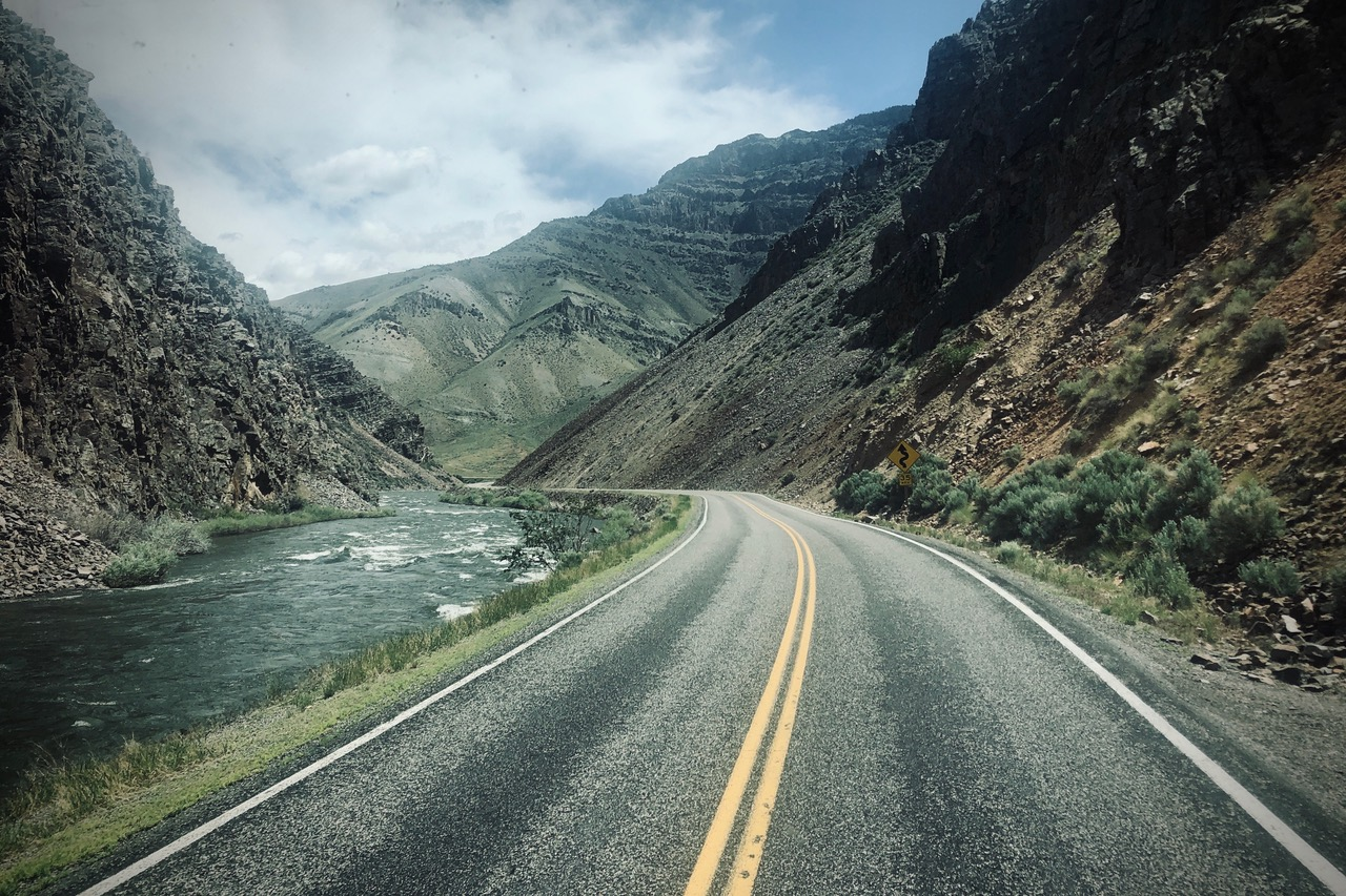 Pictured: Route 93 north along the Continental Divide in Idaho. A spectacular road less travelled in America.