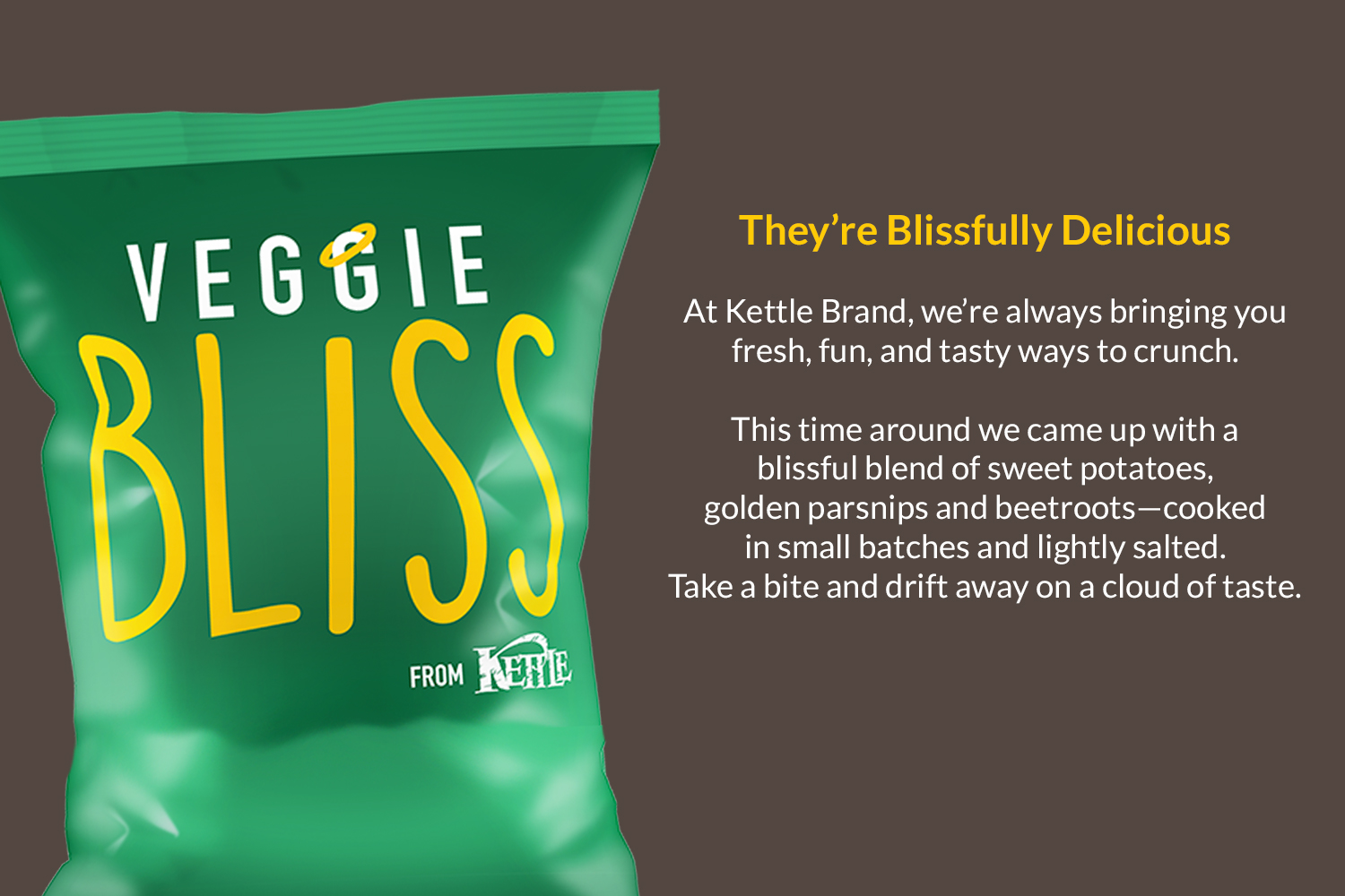 Kettle Chips Testing:  Naming for Kettle Chips vegetable chips included whimsical options like Veg Appeal, Veggie Bliss, and Veg Head