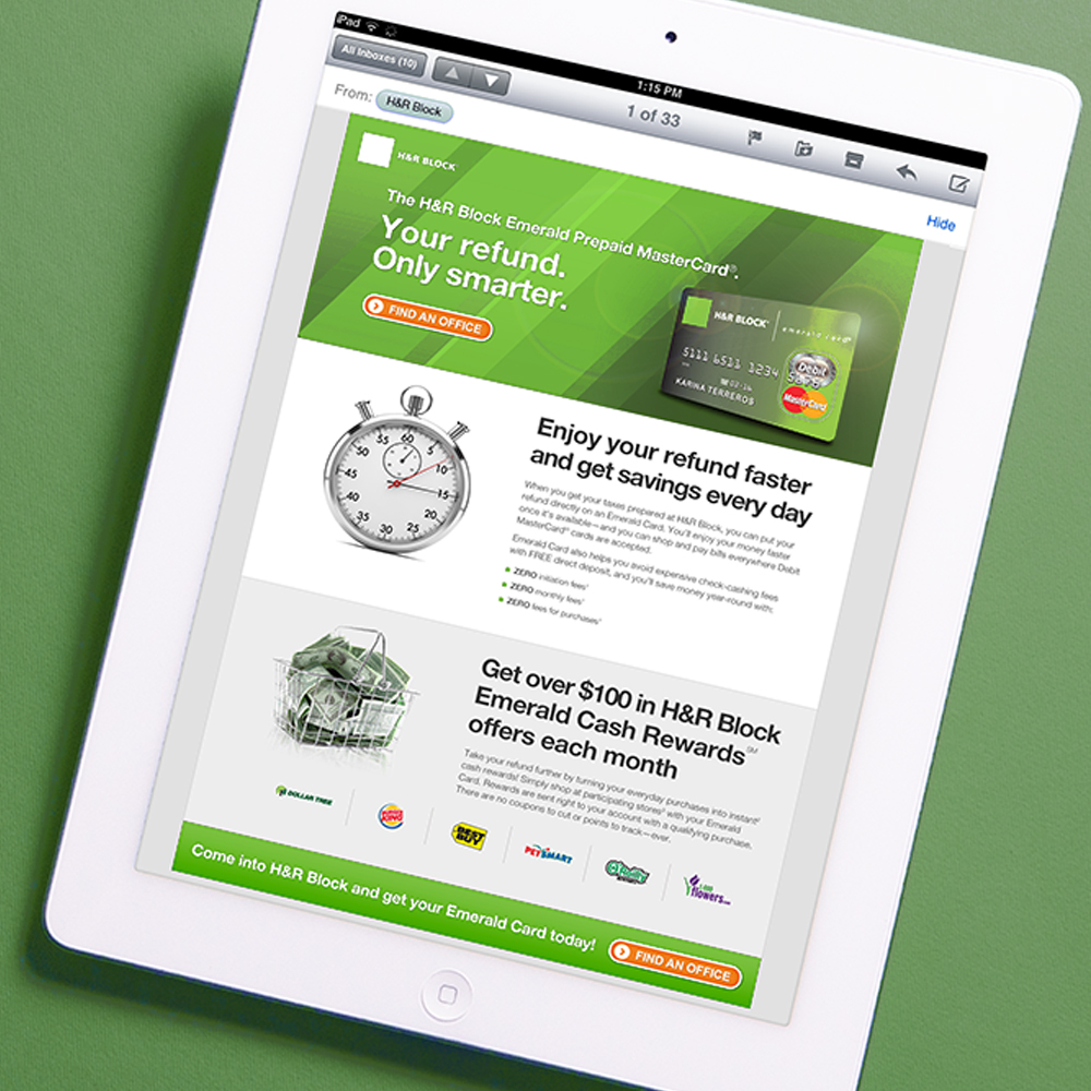 H&R Block Emails & Landing Pages : It's all about getting the word out and driving your audience to learn more—mission more than accomplished