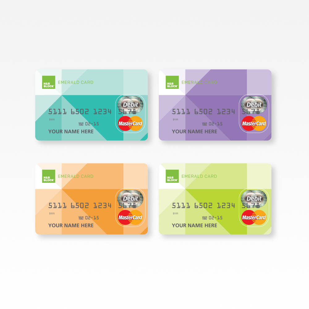 H&R Block Emerald Card Design : Need a fresh, modern aesthetic for a card that stands out in customers' wallets? Done and done