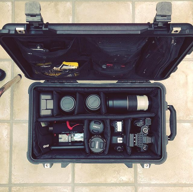 When you're all packed for your shoot, you know you're well protected with @pelicanprofessional took a bit of beating at the weekend on some cobbled streets... no problem for this fella. #peli #pelicancase #panasonicgh5 #gh5 #canonphoto #iphone #rode #videographer #gear #photography