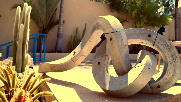 The sculpture garden at the Museum of Latin American Art (MOLAA) near downtown Long Beach.