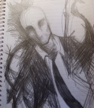 Image of Slender Man from Something Awful user cloudy