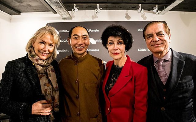 With HRH Princess Lia, HRH Prince Paul of Romania and Heini Al-Fayed last night at the London College of Contemporary Arts.
