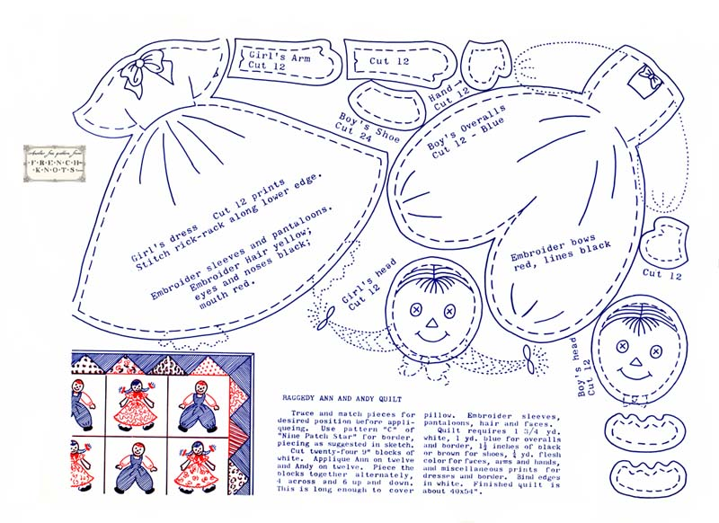 raggedy doll pattern
