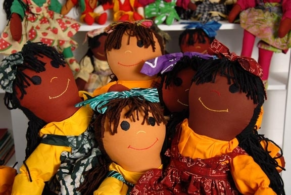 Sugarfoots Dolls are handcrafted in celebrated shades of...