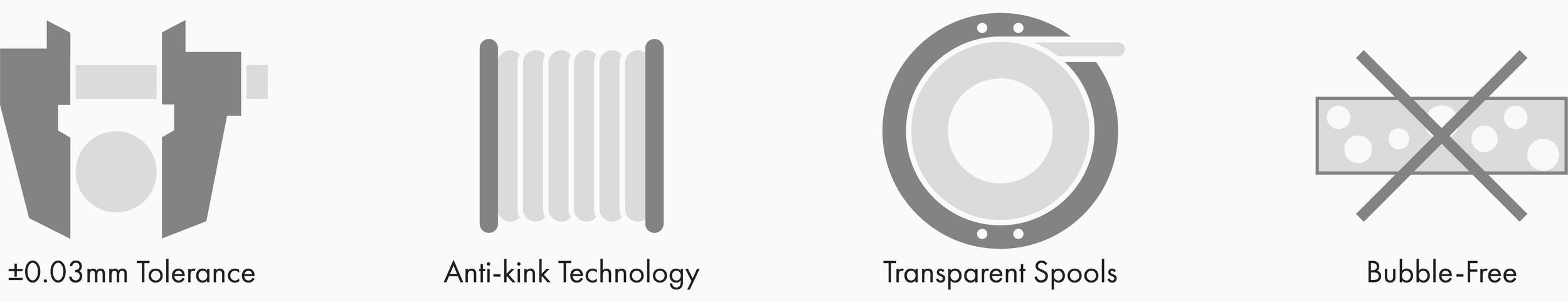 3d printer filament icons standard print co