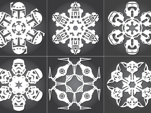 """Source: Thingiverse - """"Star Wars Snowflakes"""" by Arcticdev"""