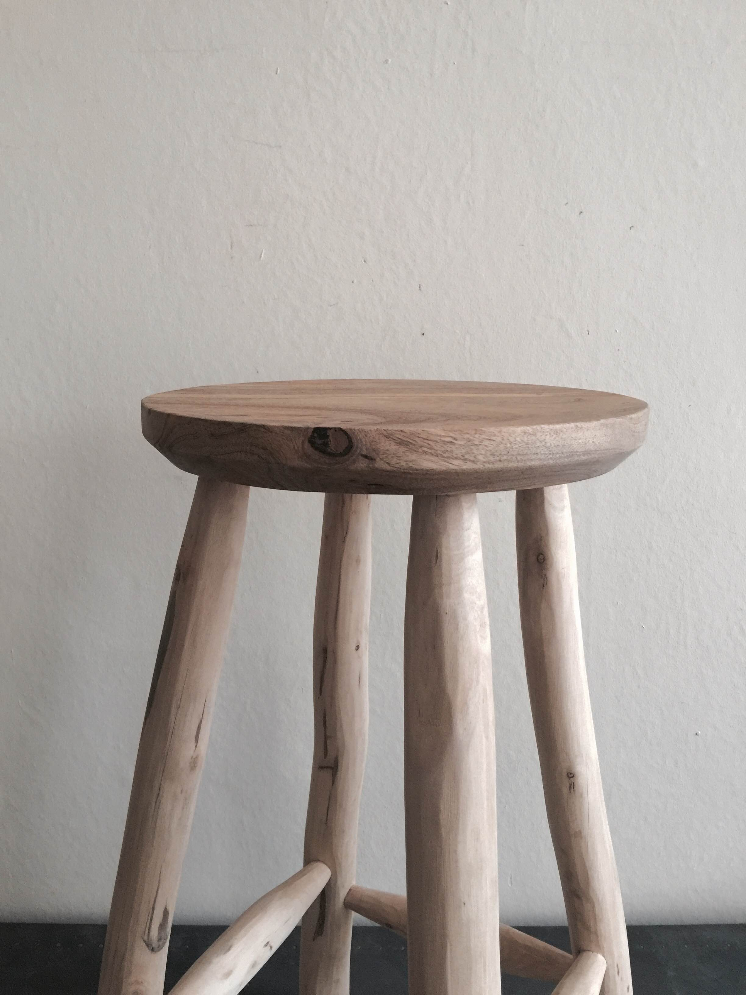 Tall Wooden Stool £140 (close).JPG