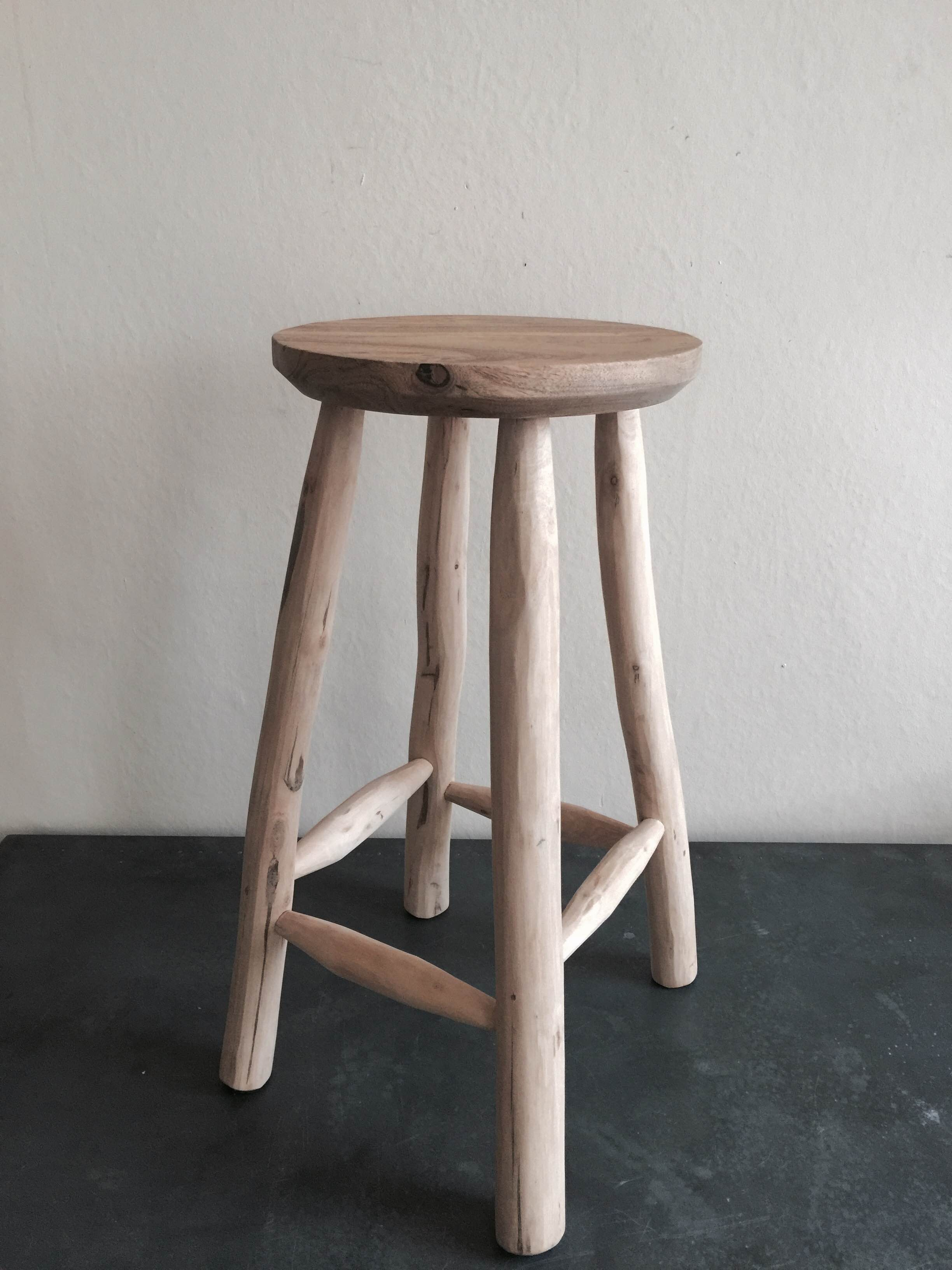 Tall Wooden Stool £140.JPG