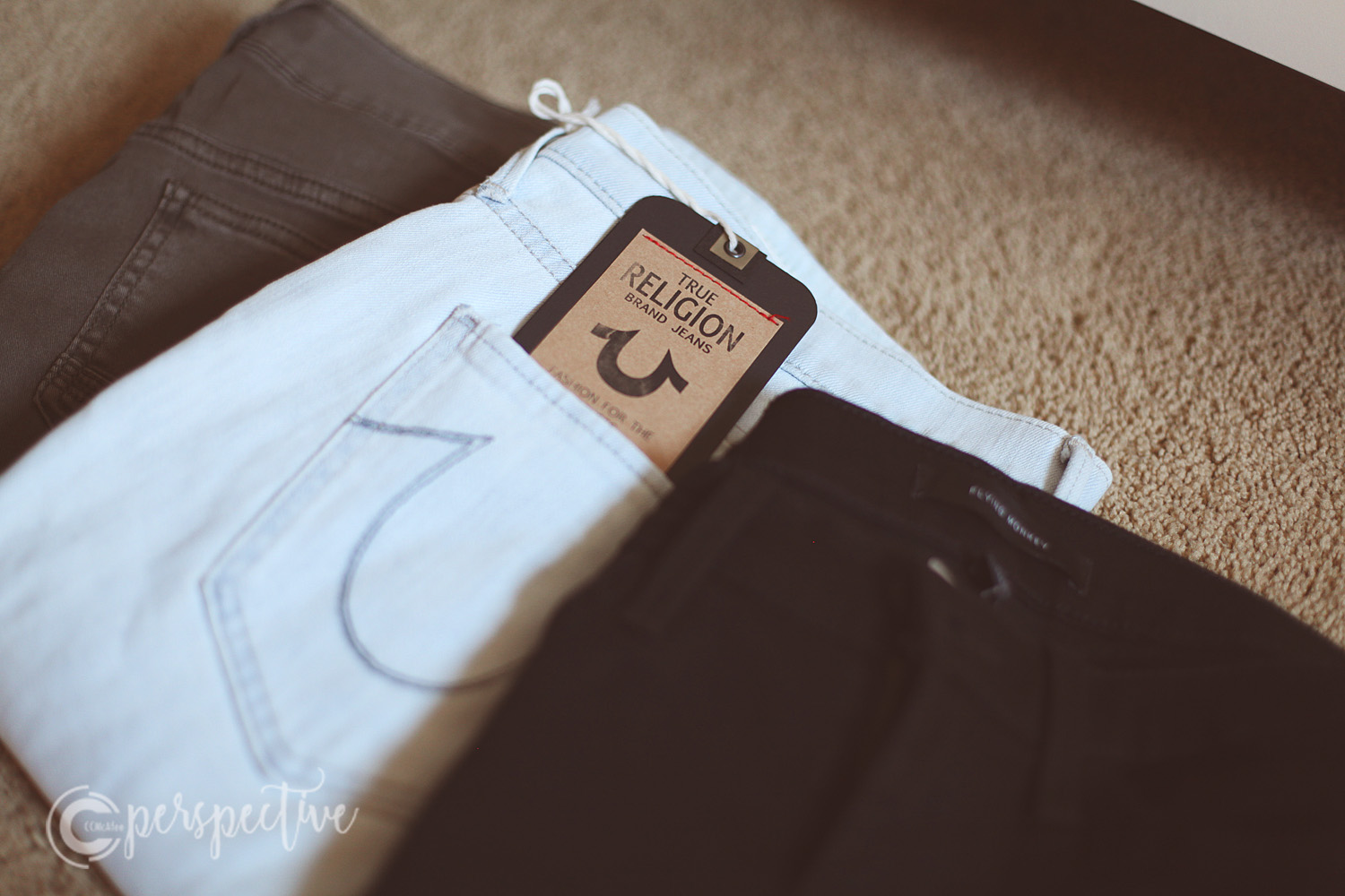 My first pair of True Religion jeans, and Flying Monkey jeans