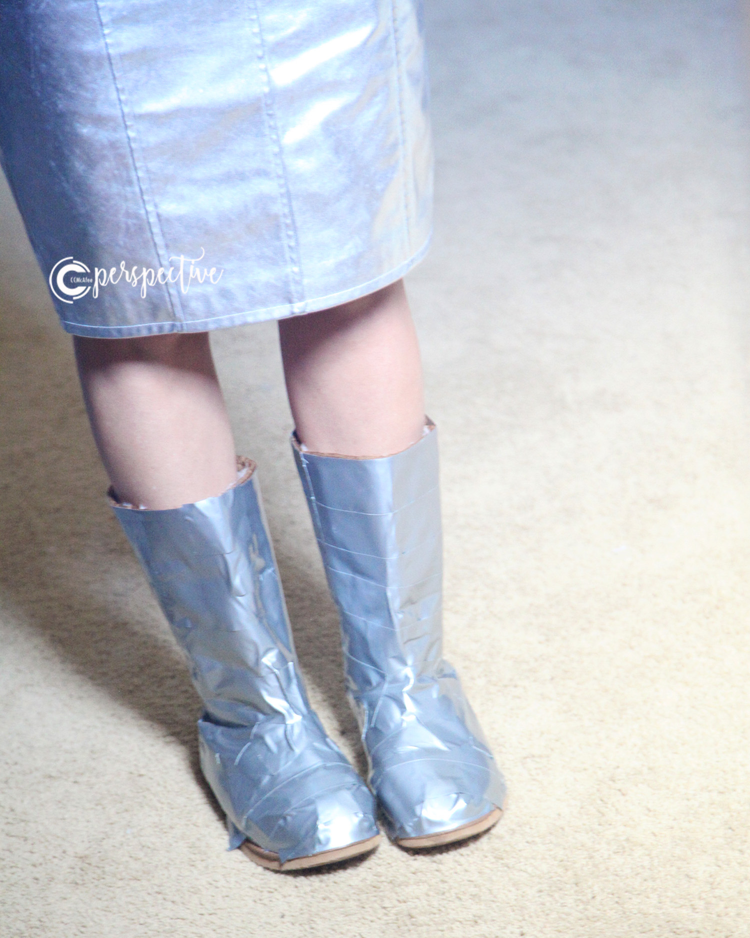 tin man boots using duct tape