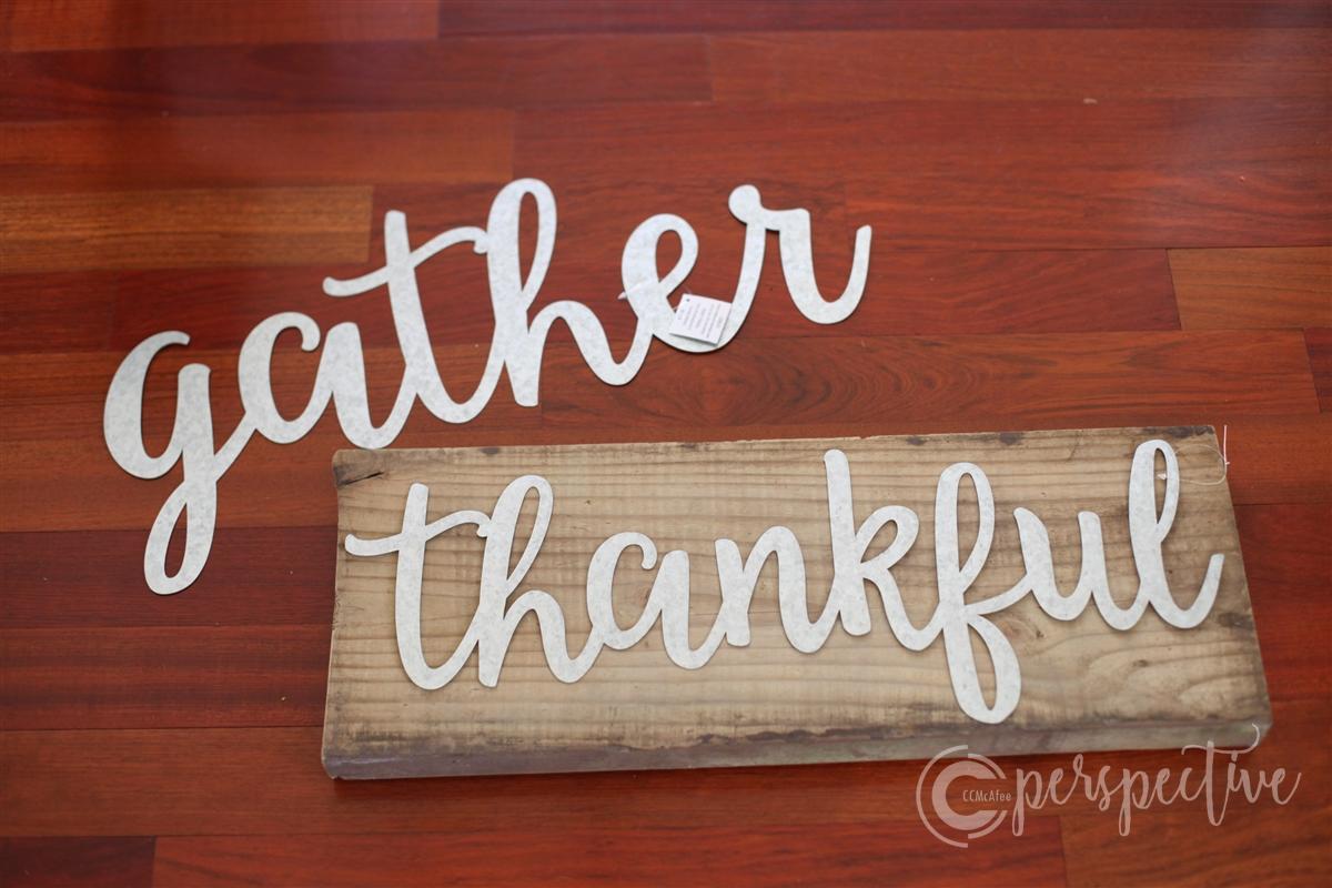 thankful wood block, thanksgiving decor