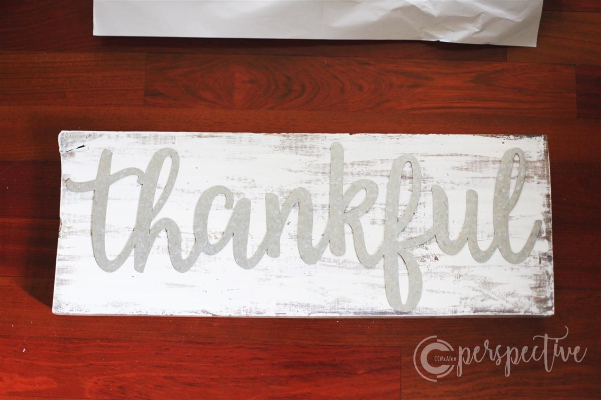 easy diy Thanksgiving sign