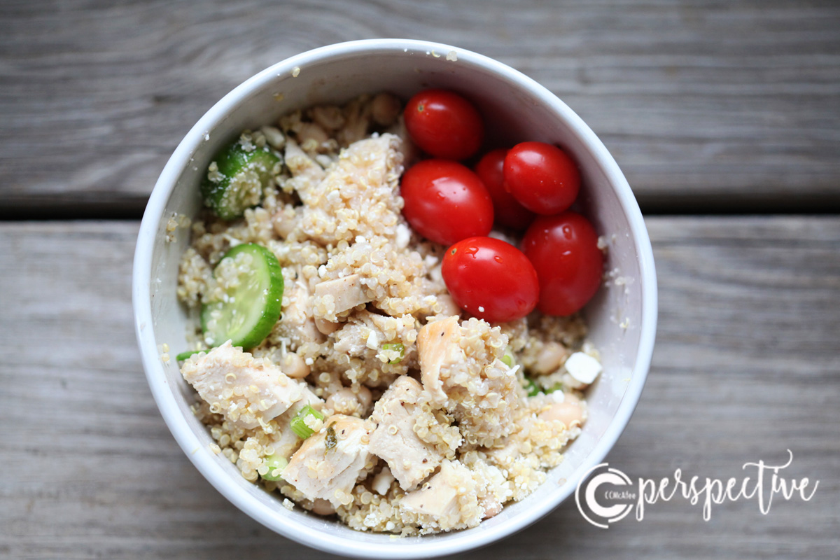 quinoa and chicken salad