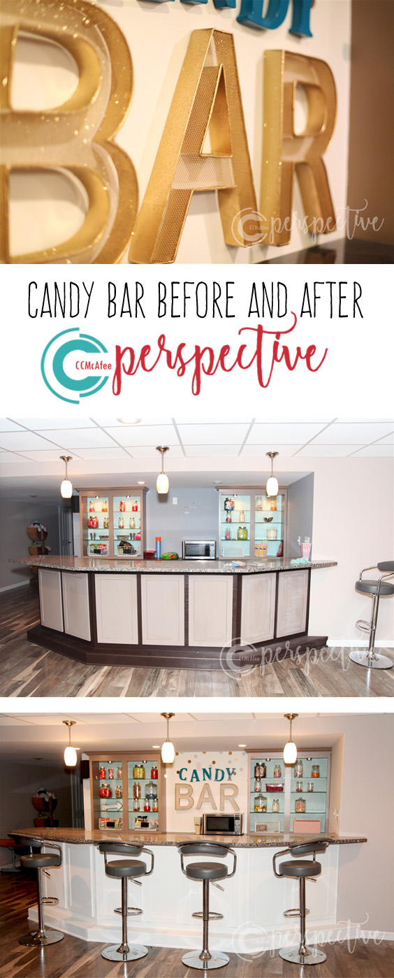 candy bar before and after