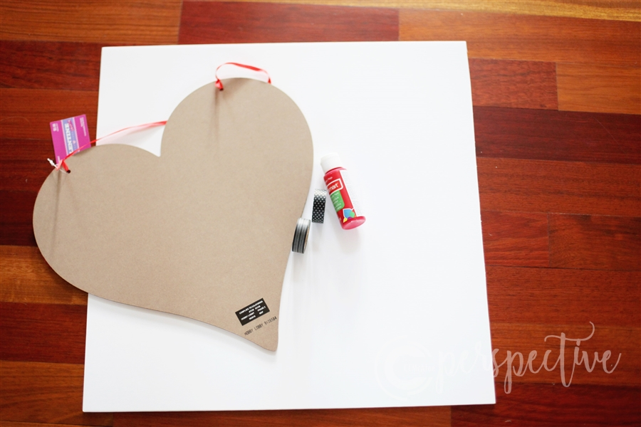 washi tape valentine heart