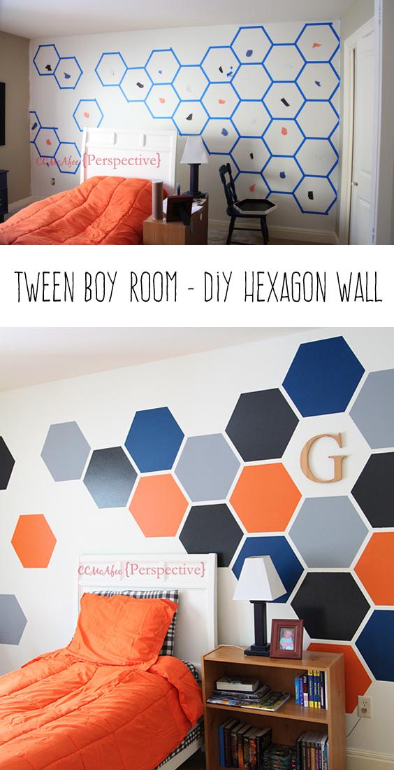 diy hexagon wall bold wall