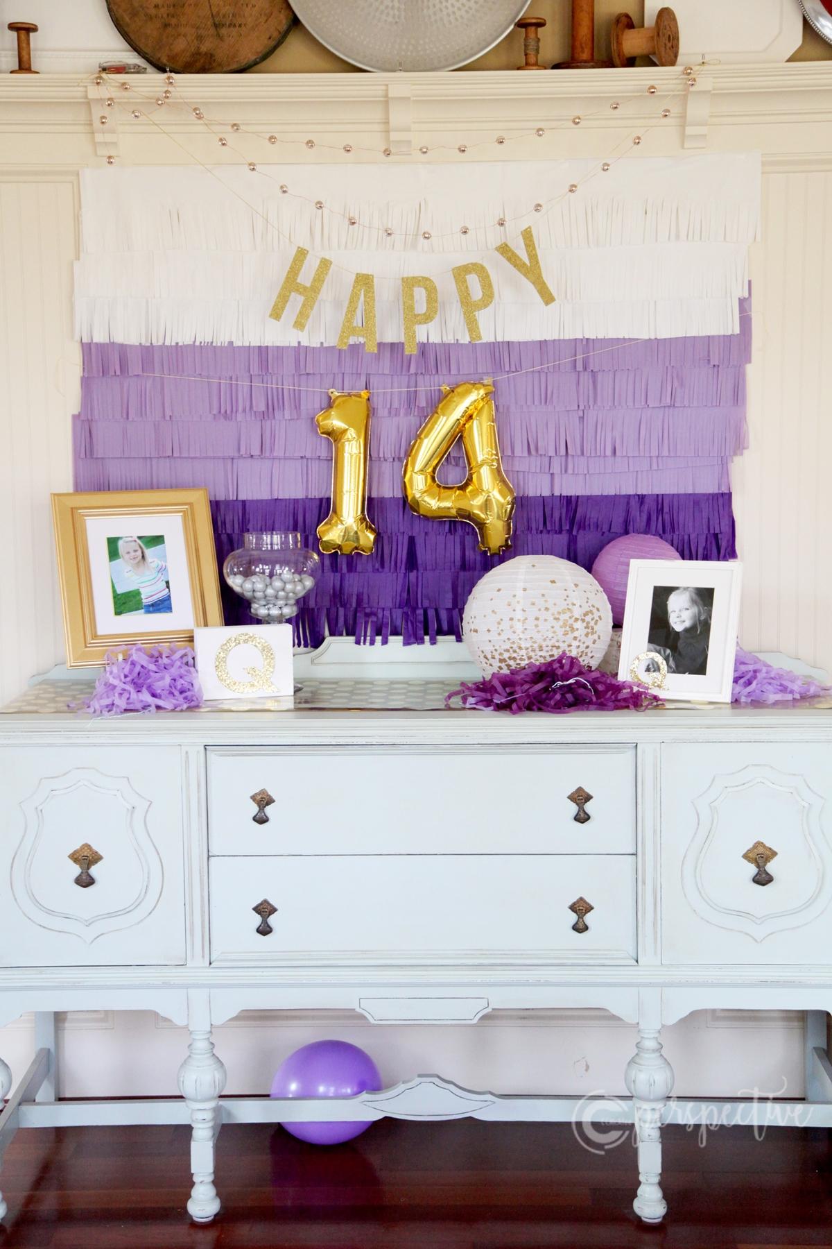birthday decor ombre fringe