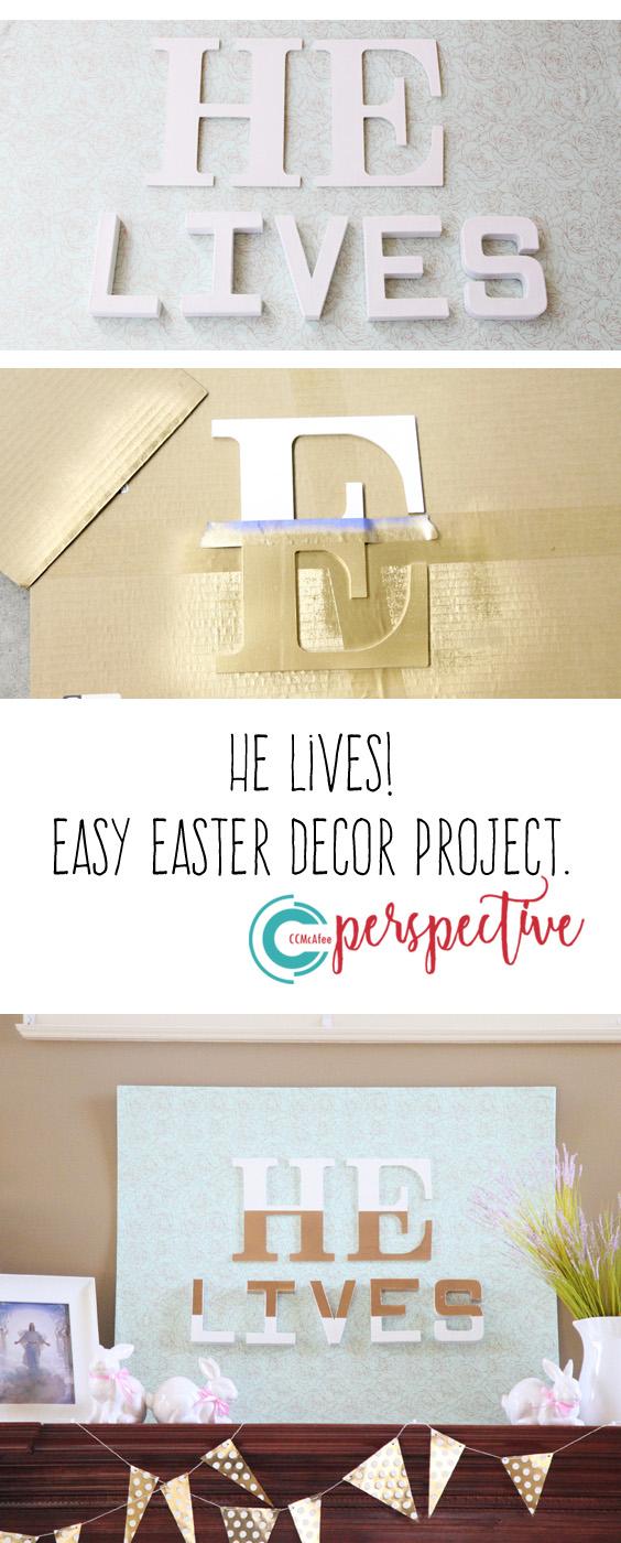 He lives.  Easter decor