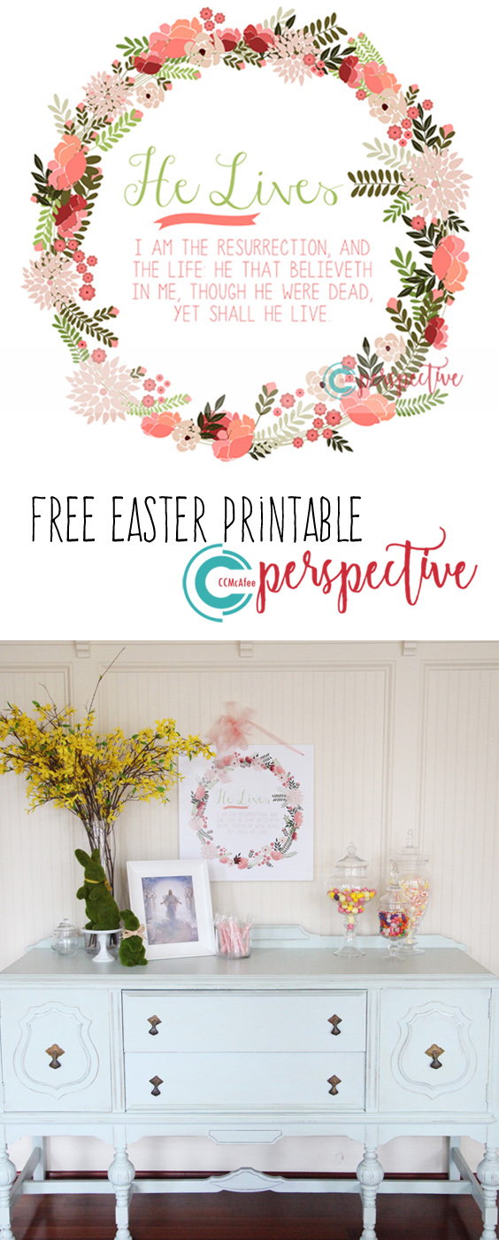 free Easter printable He Lives!
