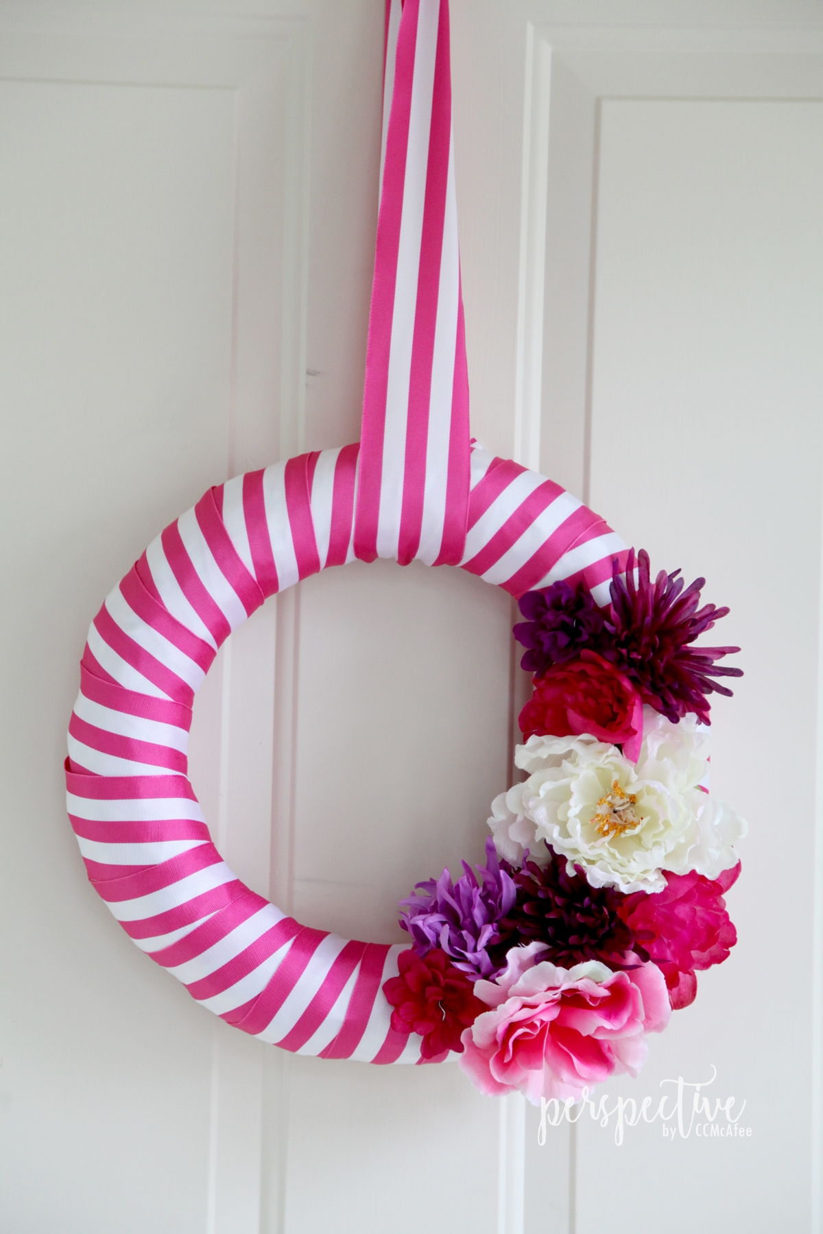 ribbon wreath spring wreath