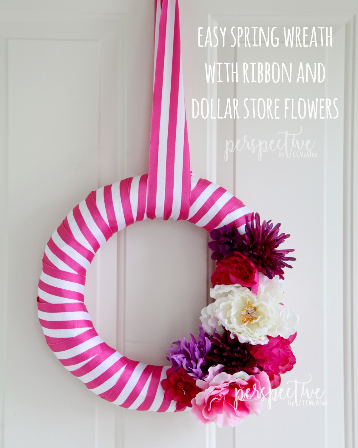 spring ribbon wreath