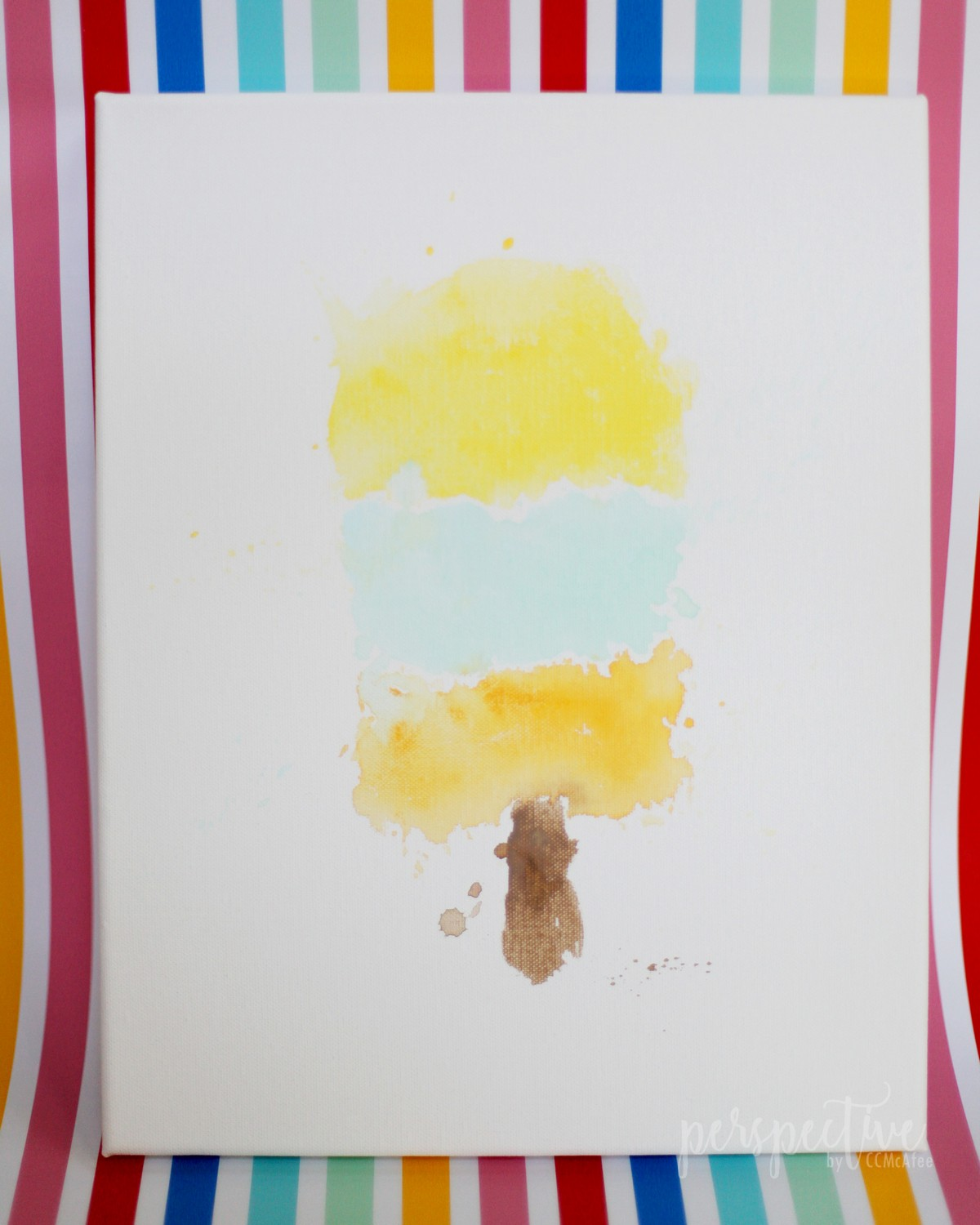 watercolor popcicle