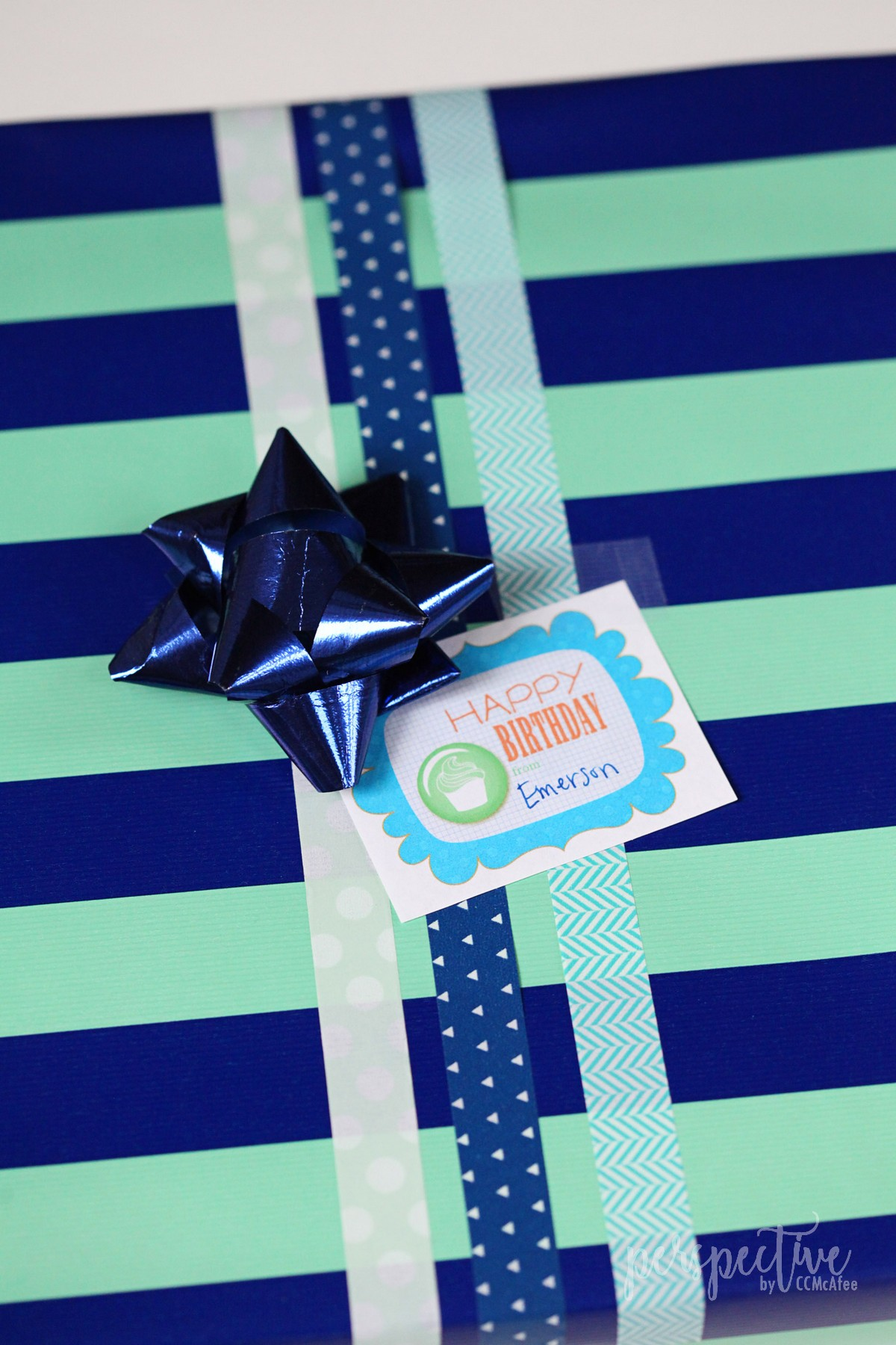 washi tape for gift wrap, free birthday tags