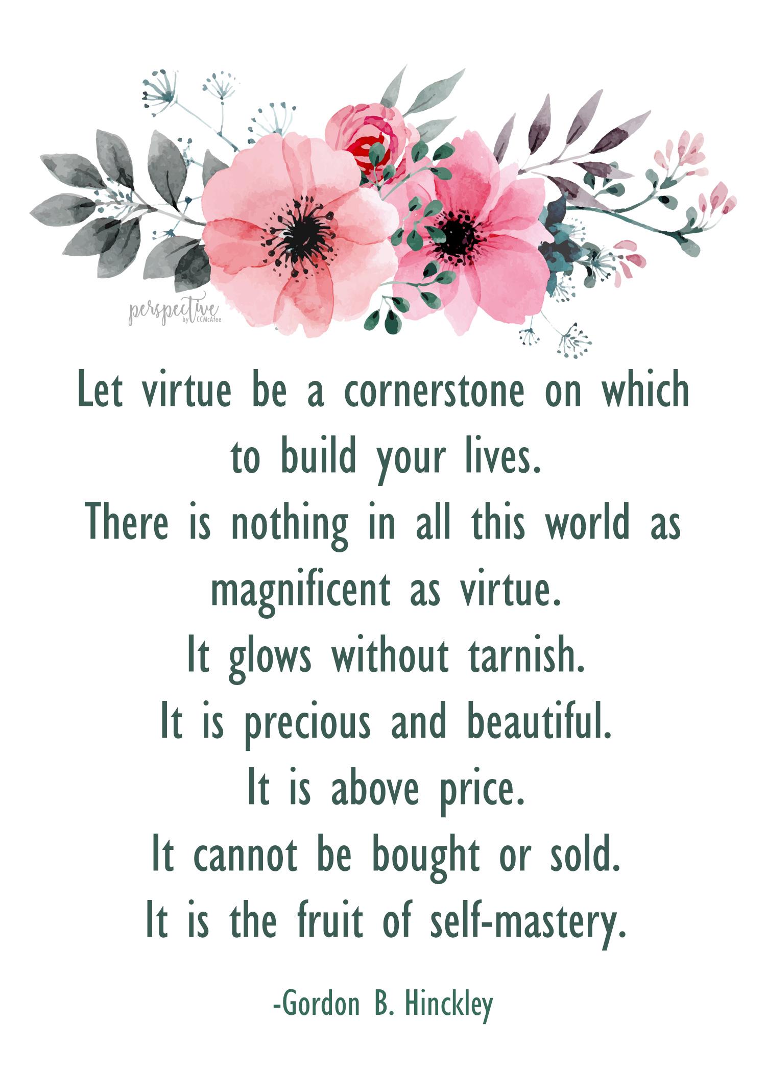 lesson handout virtue