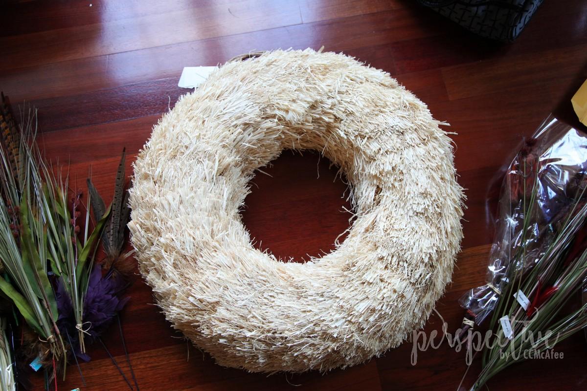 diy fall straw wreath