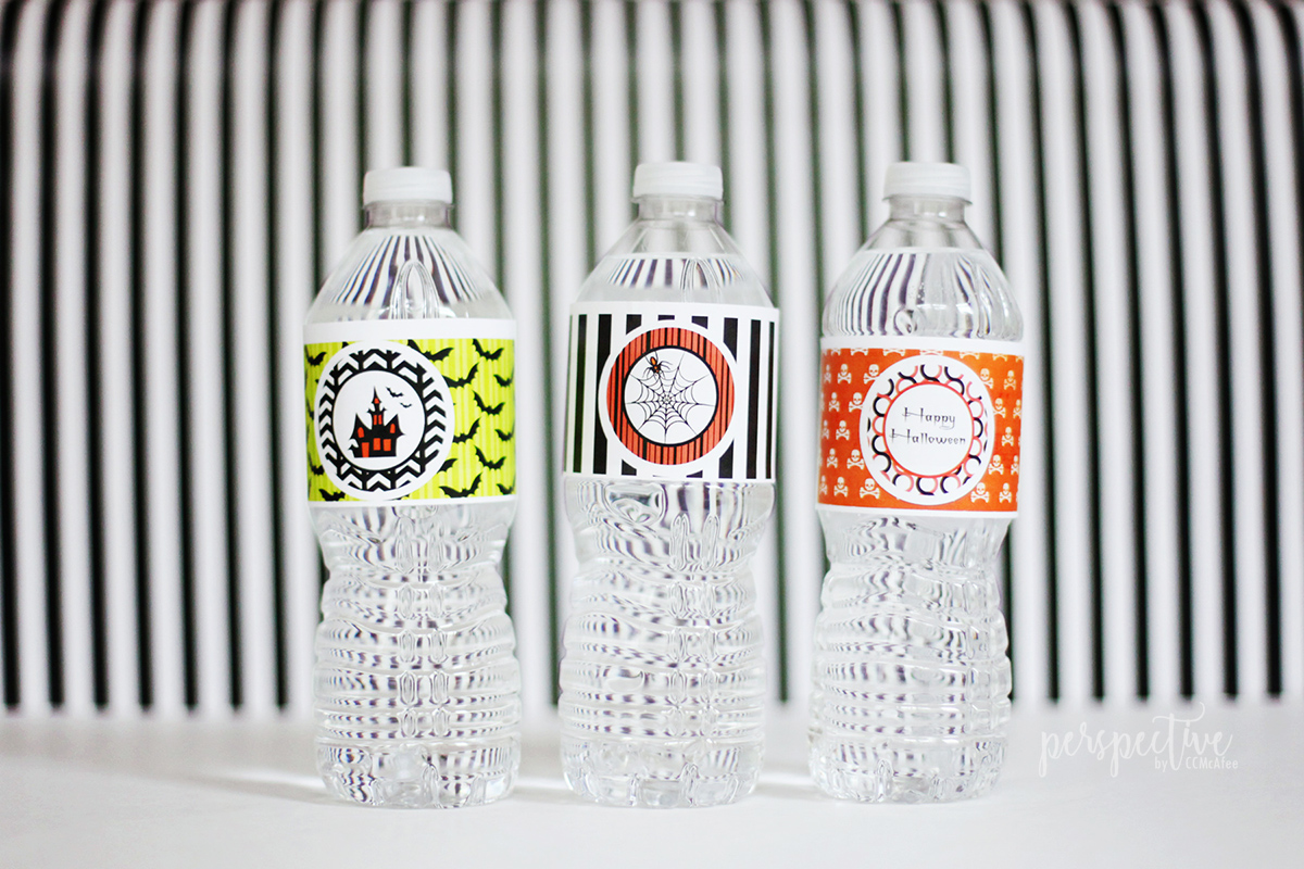 halloween water labels