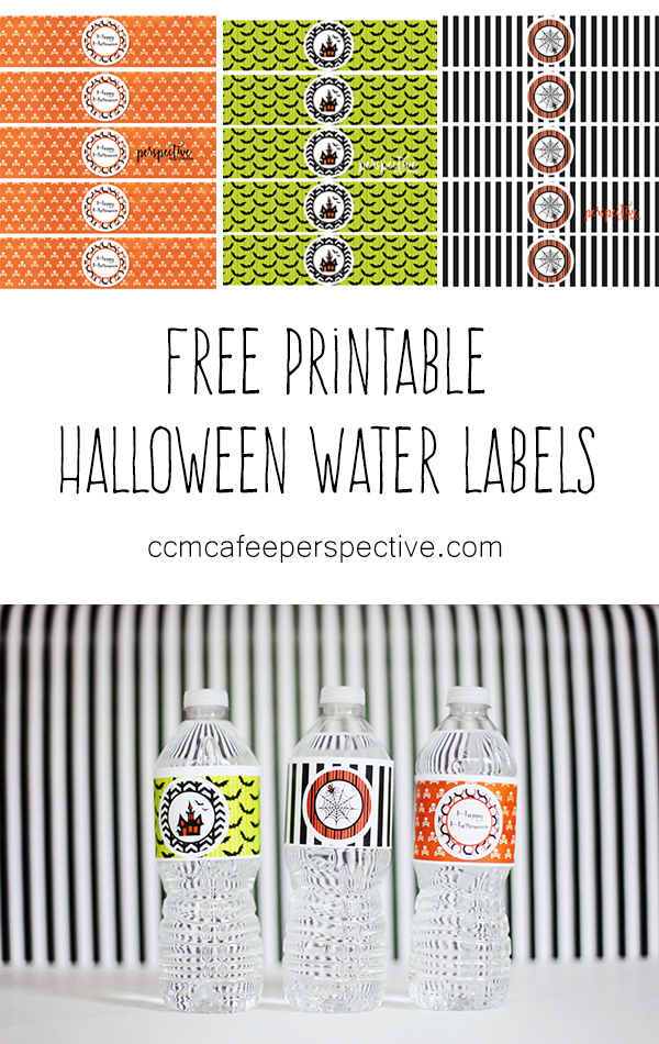 printable halloween water label