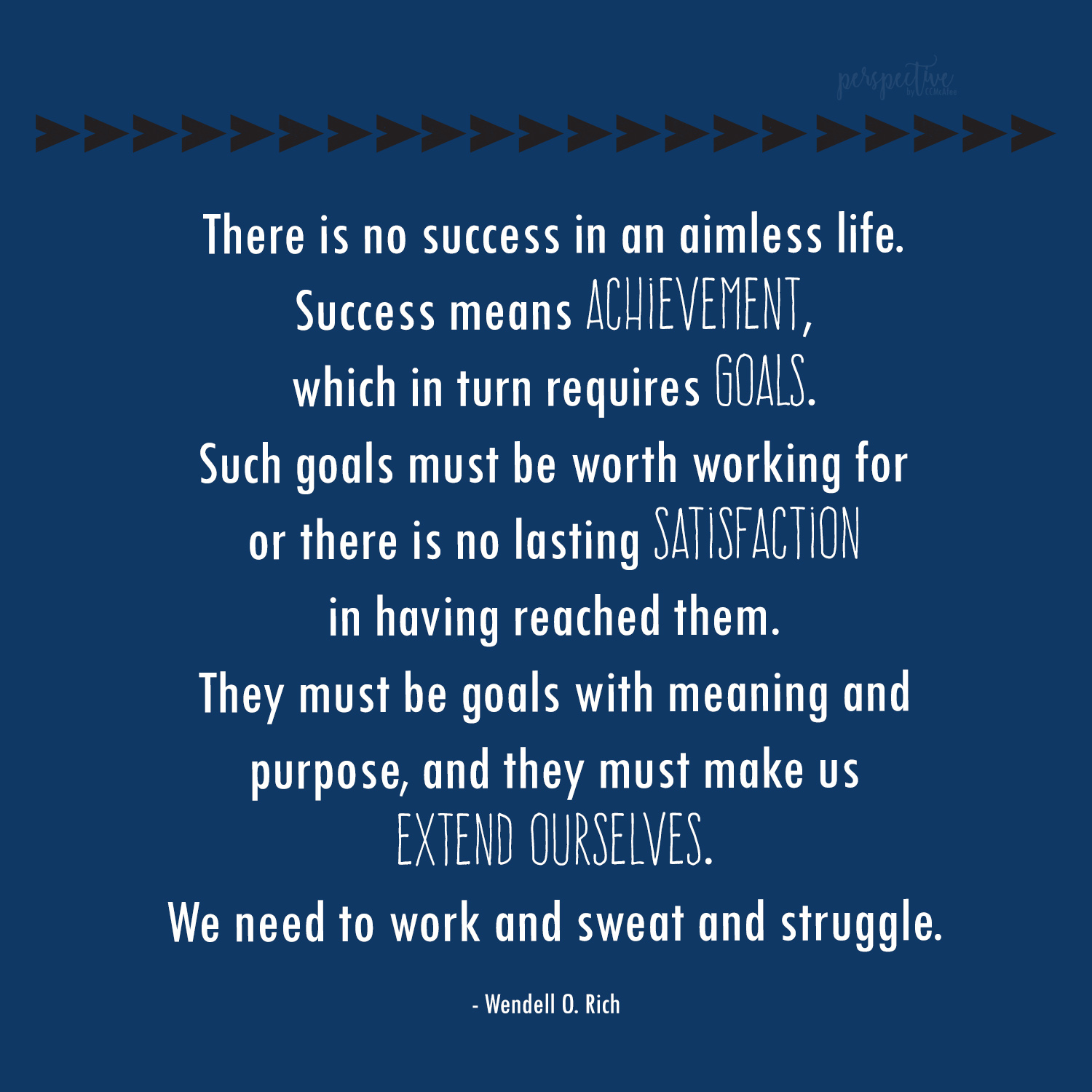 goals and success quote