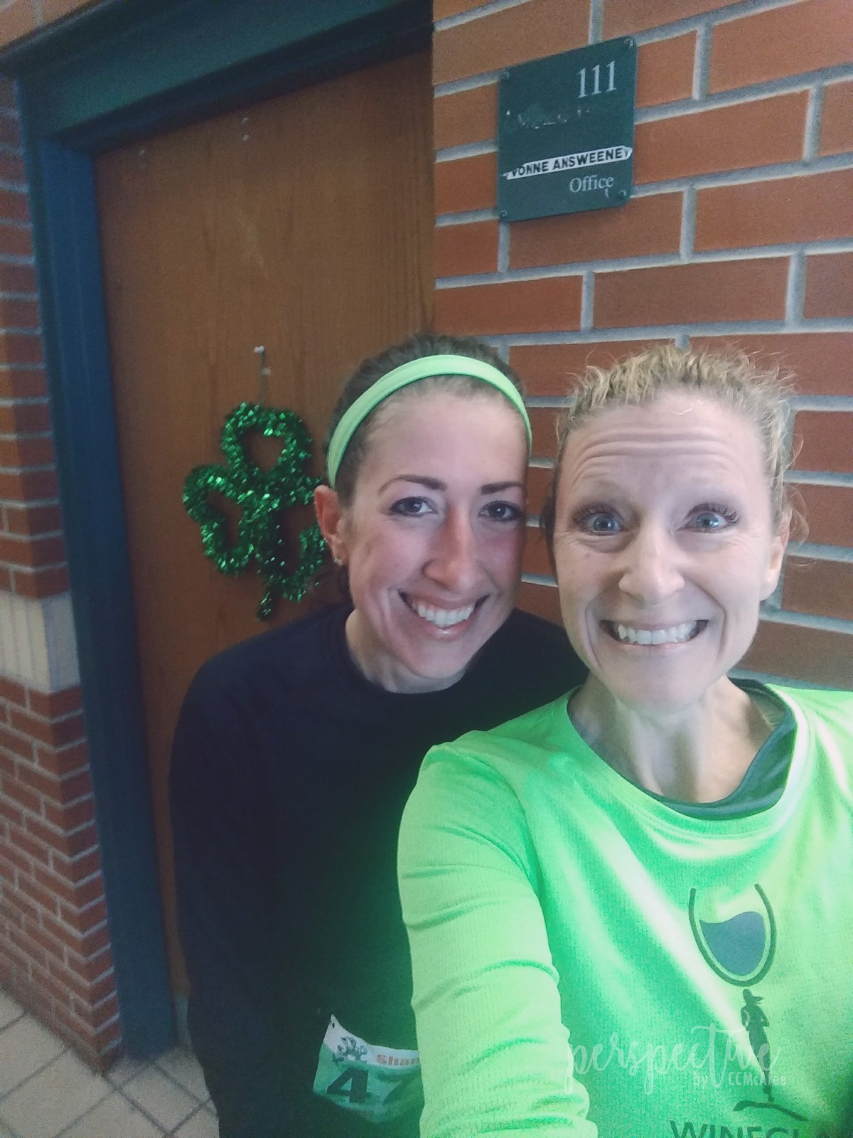 My race buddy!  She was fantastic.  I'm so glad we found each other!