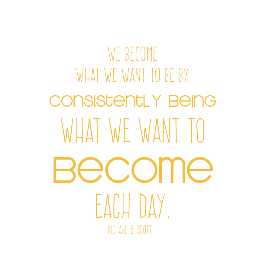 what we want to become quote