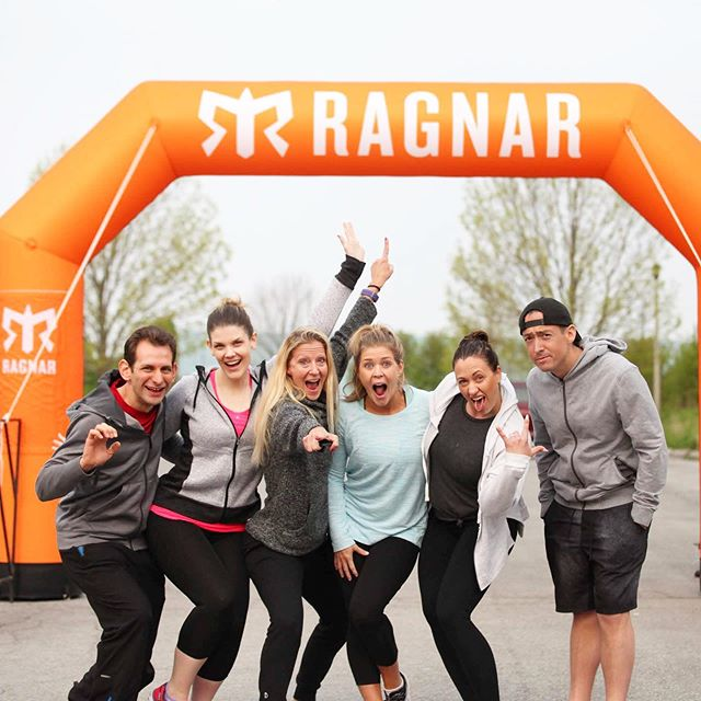 Probably the best thing about Ragnar (team racing) is the friendship and camaraderie that comes from the experience... the cheering each other on, navigating, helping and talking through the struggle and anxiety, sharing sweat and feeling the pain of no sleep, deciding where to eat... all together, with each other, for each other, all with people in the same boat, feeling the same struggle, getting each other through with laughter, words, encouragement and of course some cow bell! ••• The only thing that would be better is to have that with both vans. Maybe #nexttimeweneverdothis we can do musical vans and rotate runners in vans so we can allll bond. ••• Remember when I said we'd all be besties when this thing is over?  Yep, meant it! ••• #ragnarrelay #ragnarniagara2019 #ragnarniagara #motherrunners #inspiringwomenrunners #womensrunning  #runalways #runnerswanderlust #womenrunning #mmfitfam #movemorefitness #runitfast #instarunners #fitnessover40 #over40fitness #fitmomstrongmom #getupandmove #fitmom #strongmom #strongmoms #befit #fitnessforlife #runnerspace #raceplace #igfitmoms #igfitwomen #personaltrainers #trainerlife #womensrunningcommunity