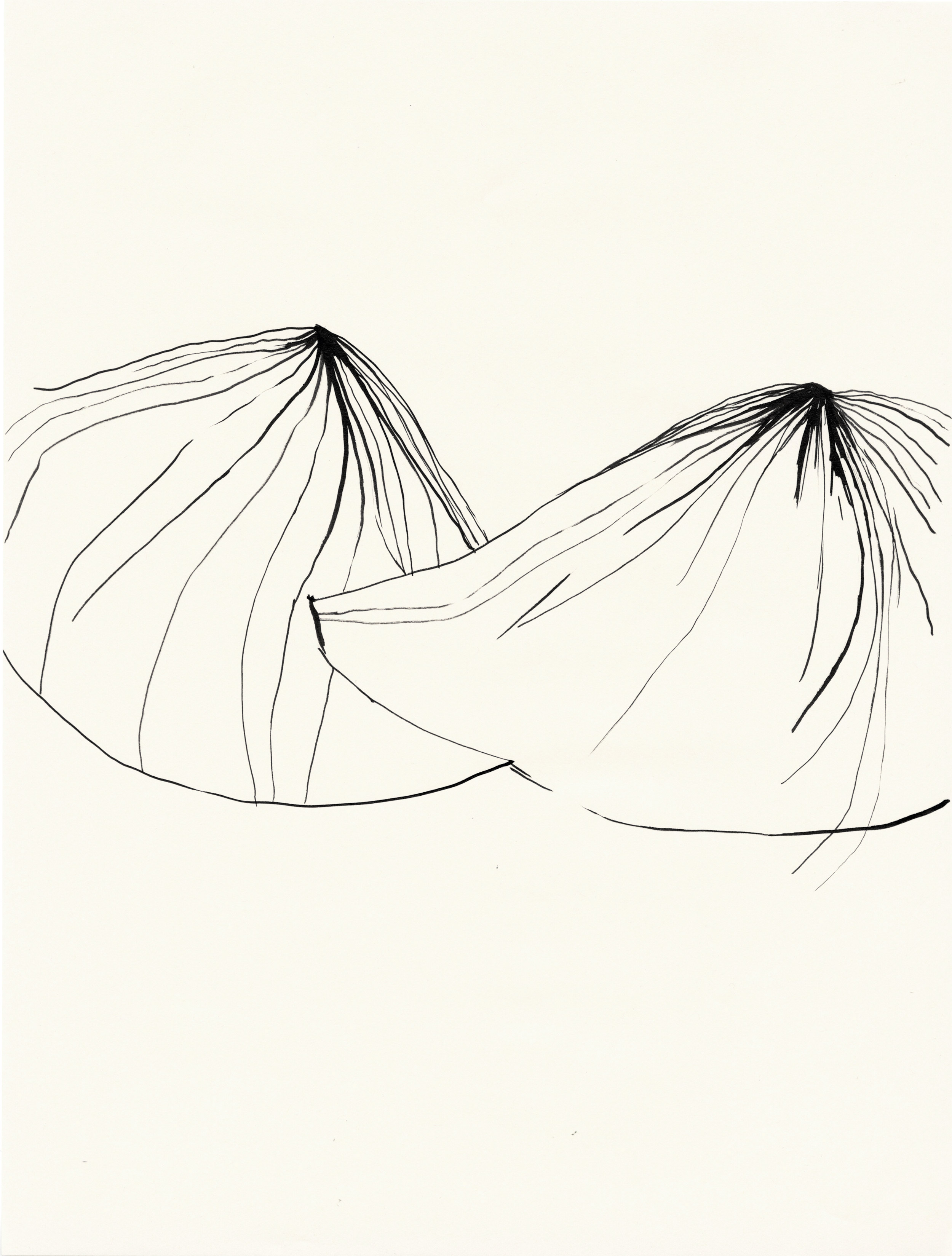 "Untitled / 2013 (from the serie ""Volcano"") chinese ink on paper 30 x 40cm"