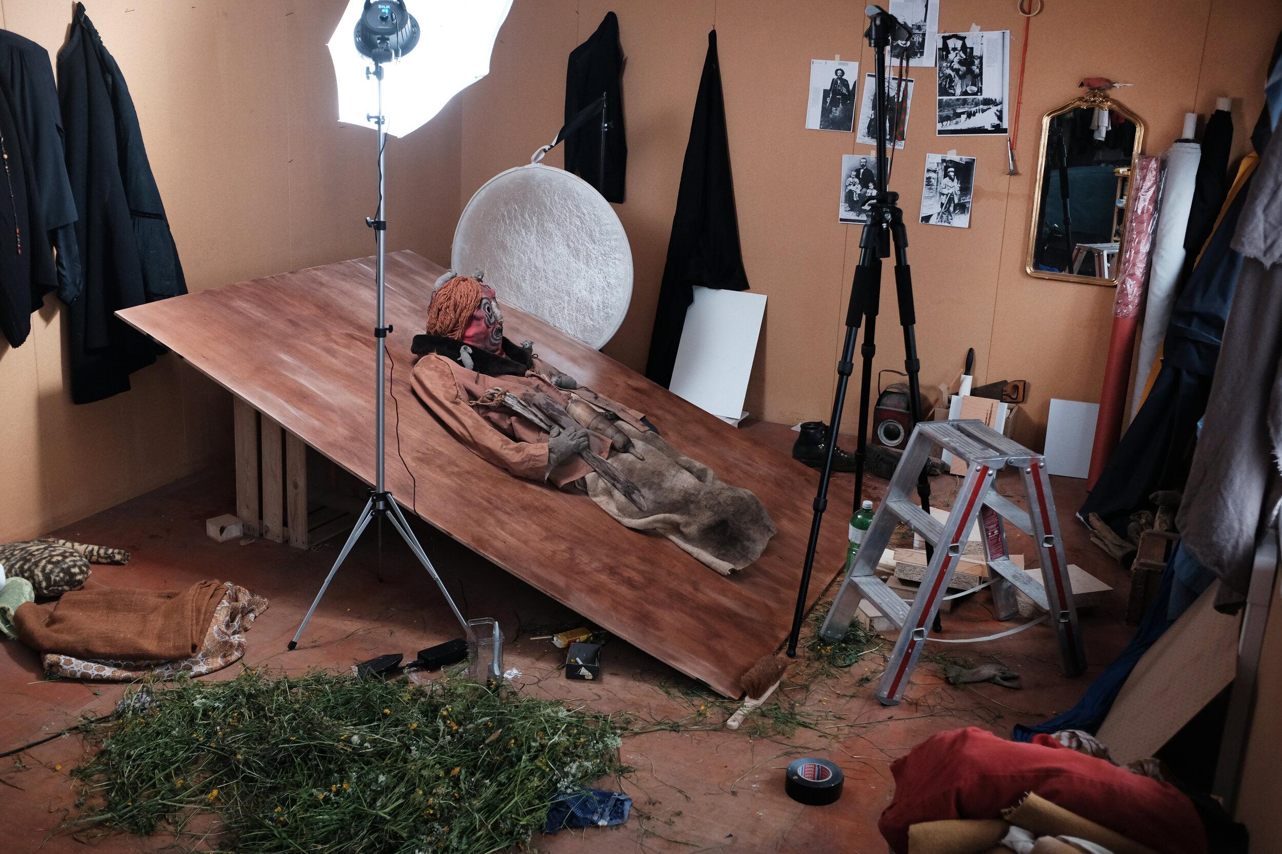 Arbeit im Studio in Flüelen