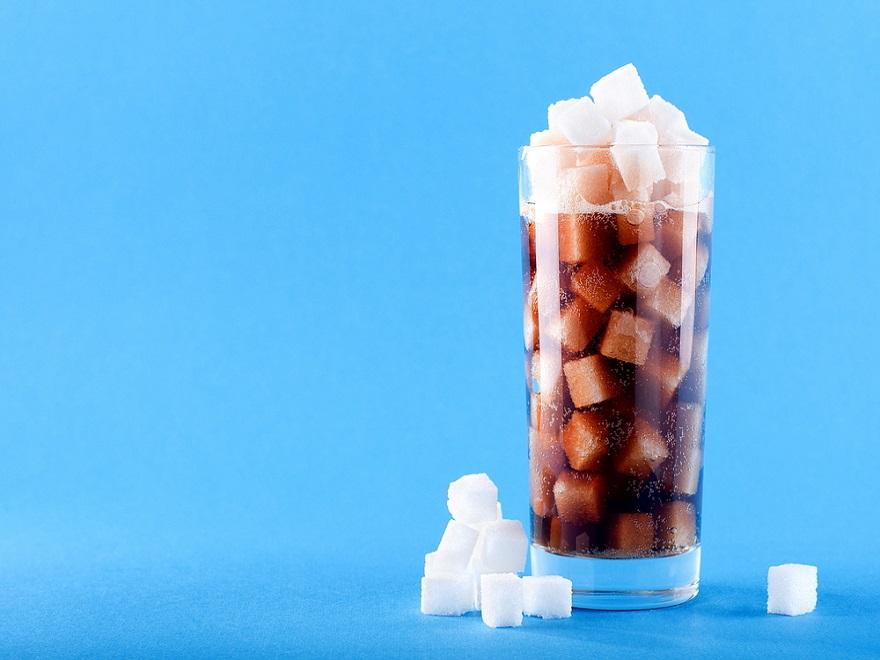 Glass full of sugar