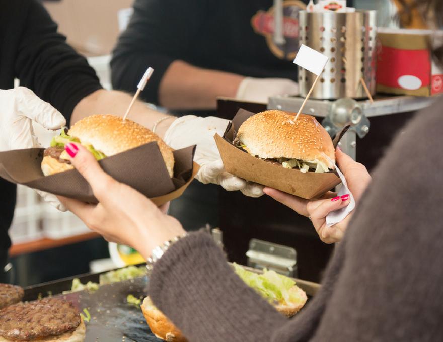 street food burgers