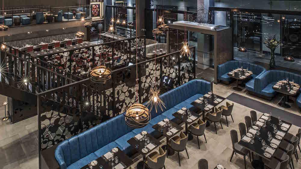 M Restaurant interior