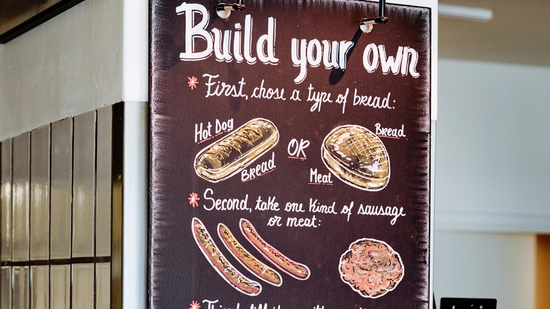 Build your own menu