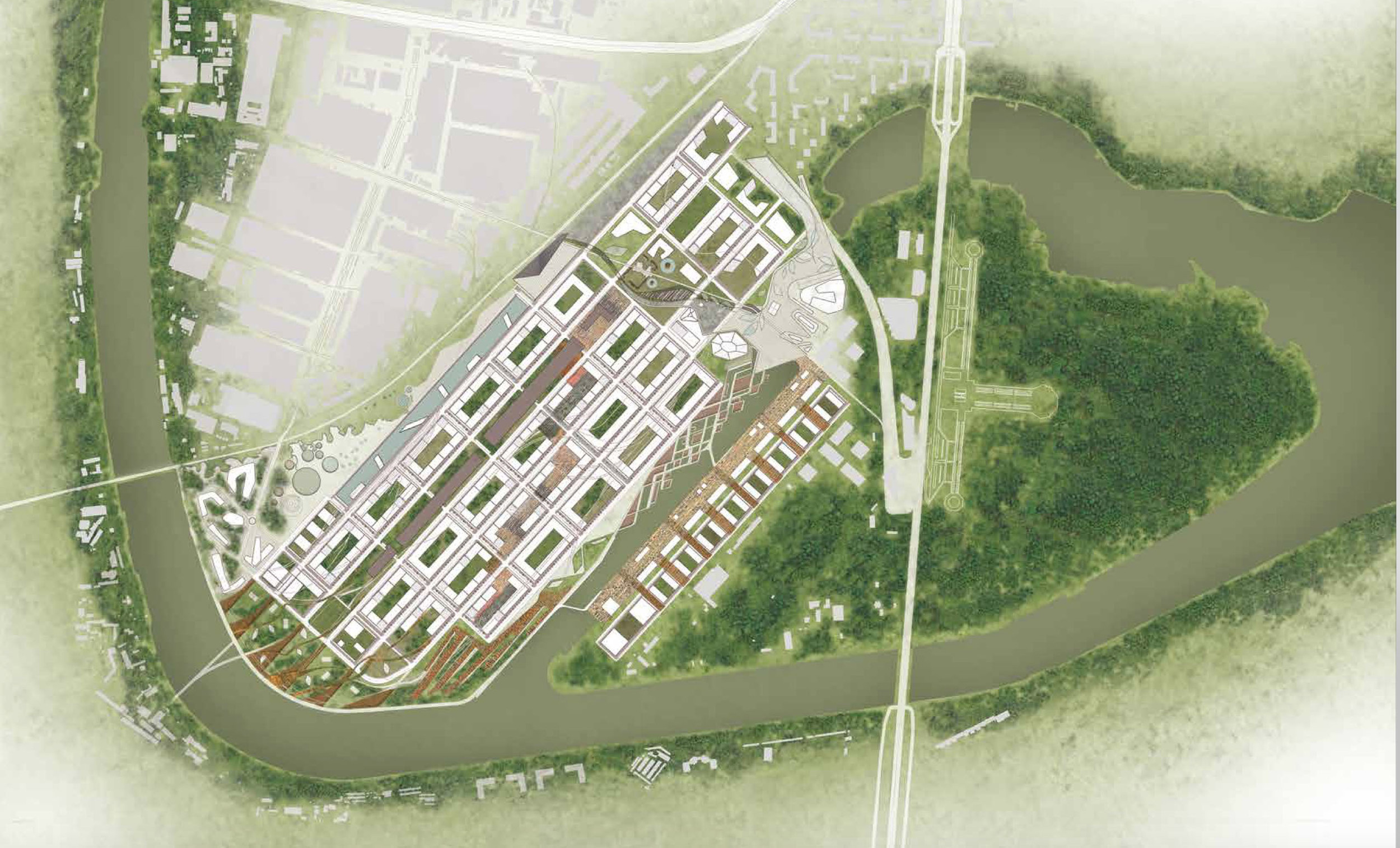 Detailed masterplan for former industrial territory (ZIL)