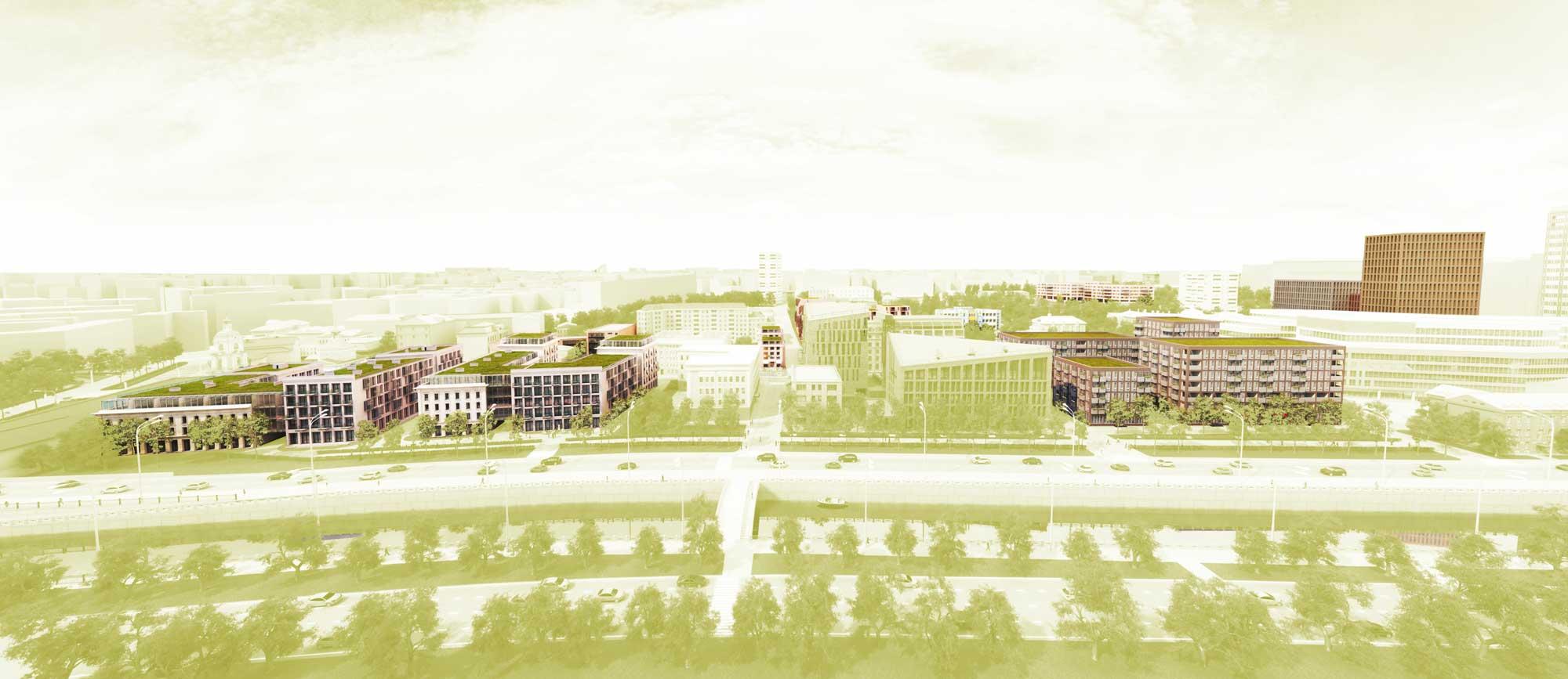 View on Serebryanicheskaya embankment, project proposal