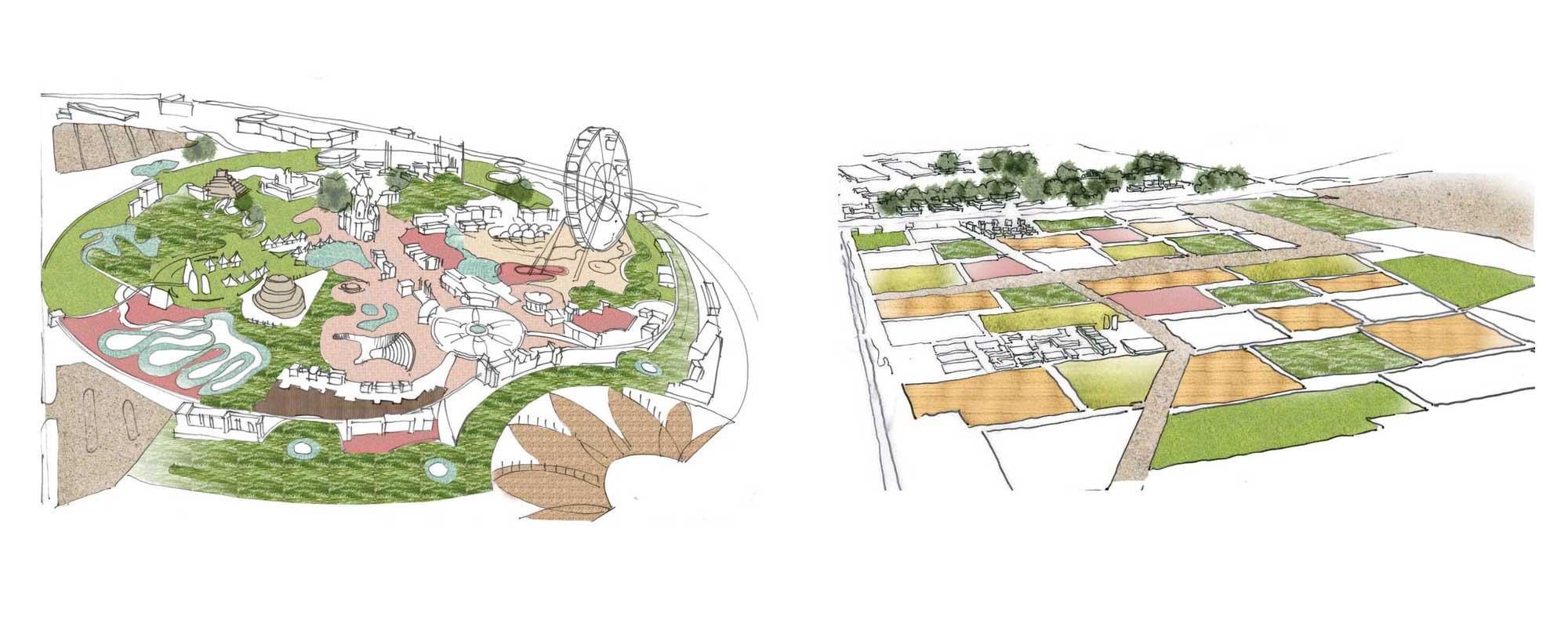 Zones description. Agriculture cluster | Theme park